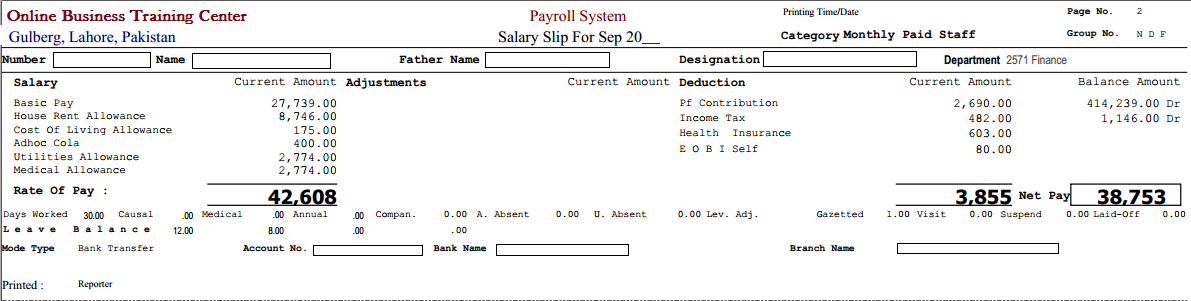 salary slip format in excel file free download