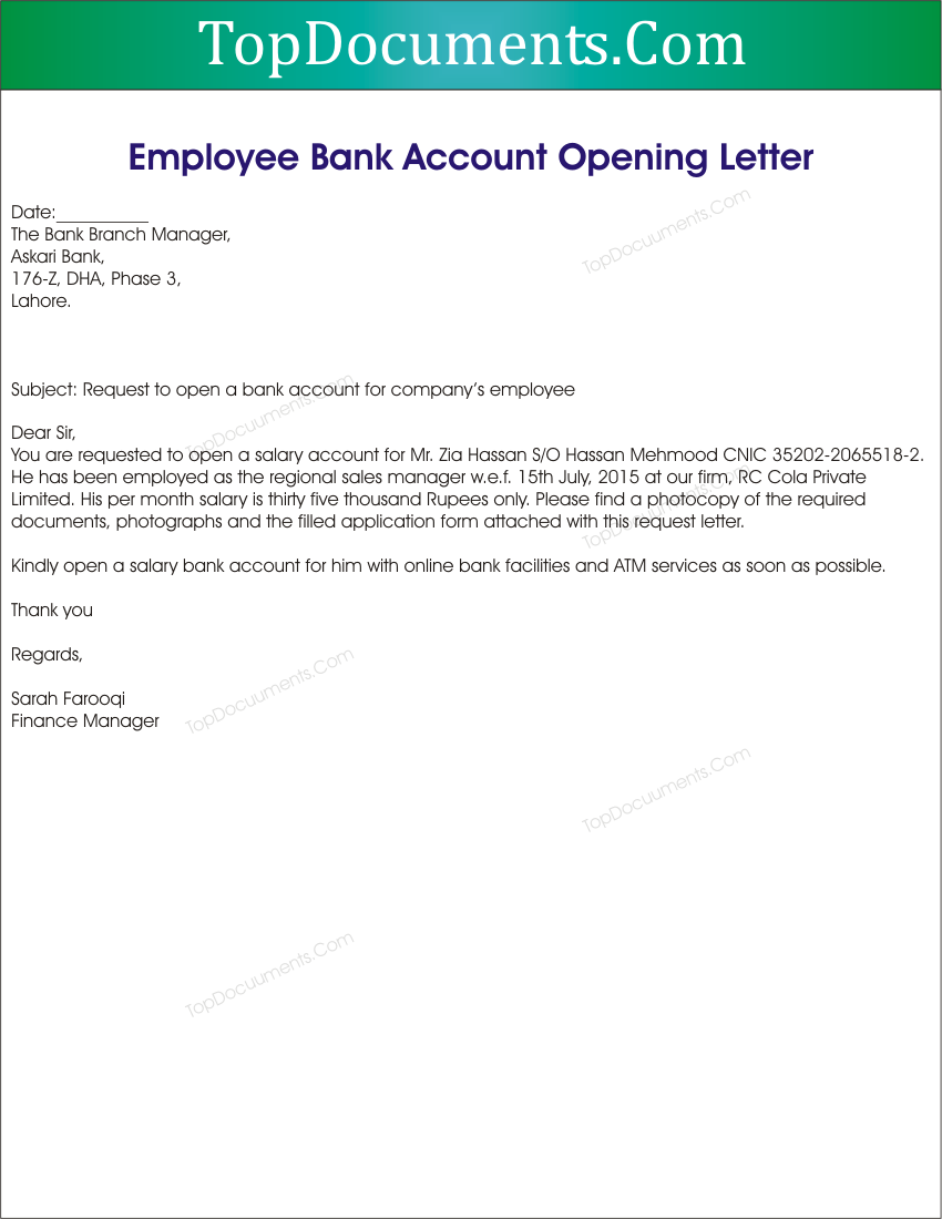 New branch opening letter for dating